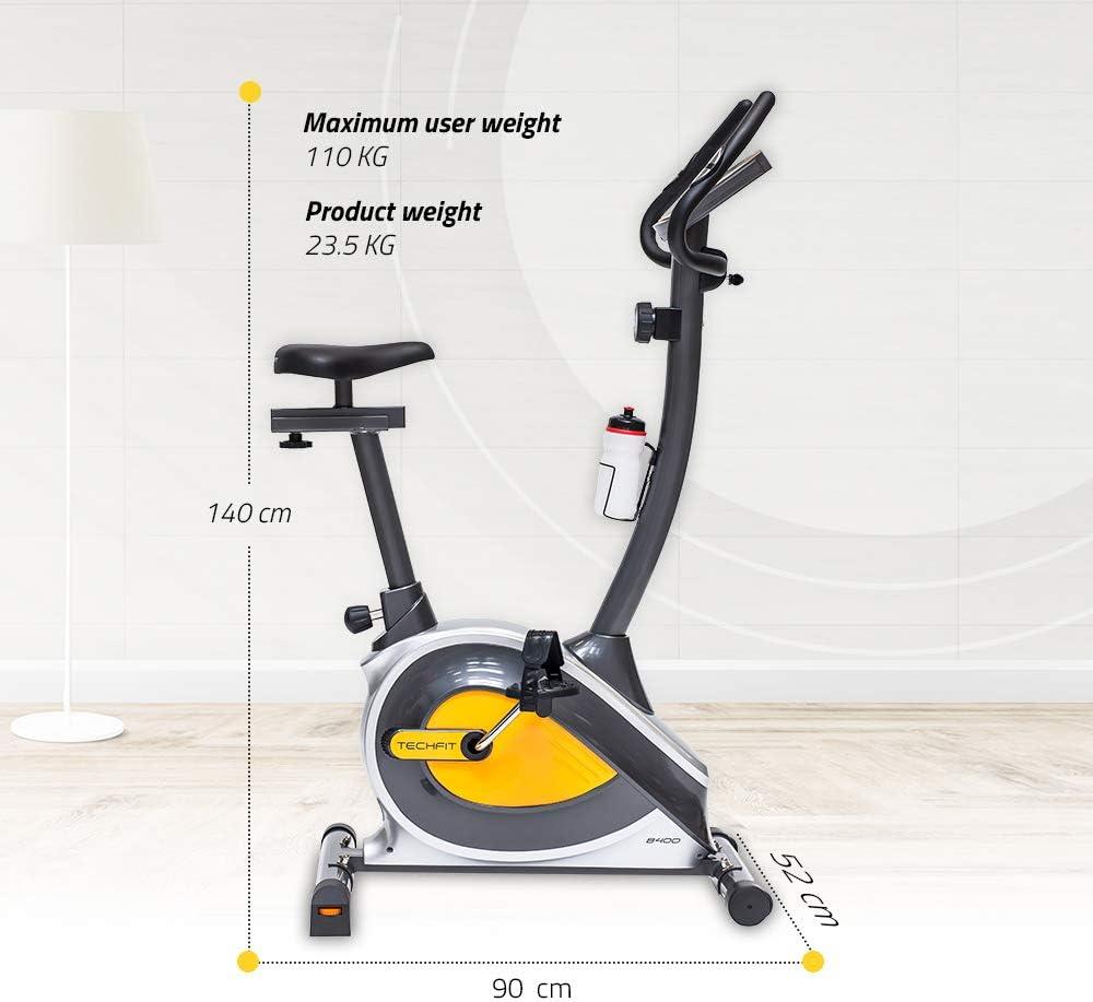 TechFit B400 Bicicleta estática de Ejercicio, Magnética, Máquina ...