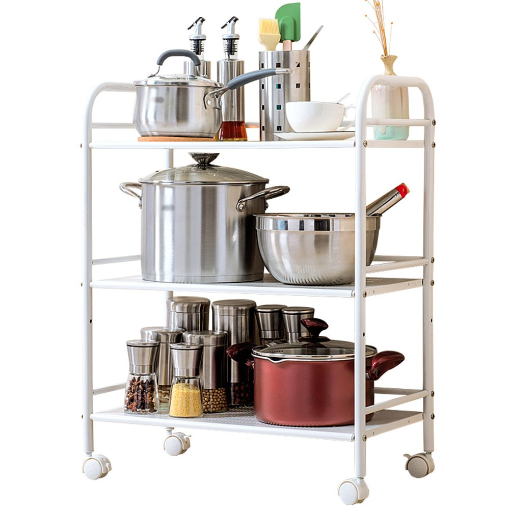 LXLA棚シェルフ電子レンジオーブンキッチンはどこでも動くことができますフロアスタンド多層炭素鋼キッチン記事3層3層(40/50/60 * 32 * 75Cm) ( サイズ さいず : 40*32*75cm ) B07C1RMFSC 40*32*75cm 40*32*75cm