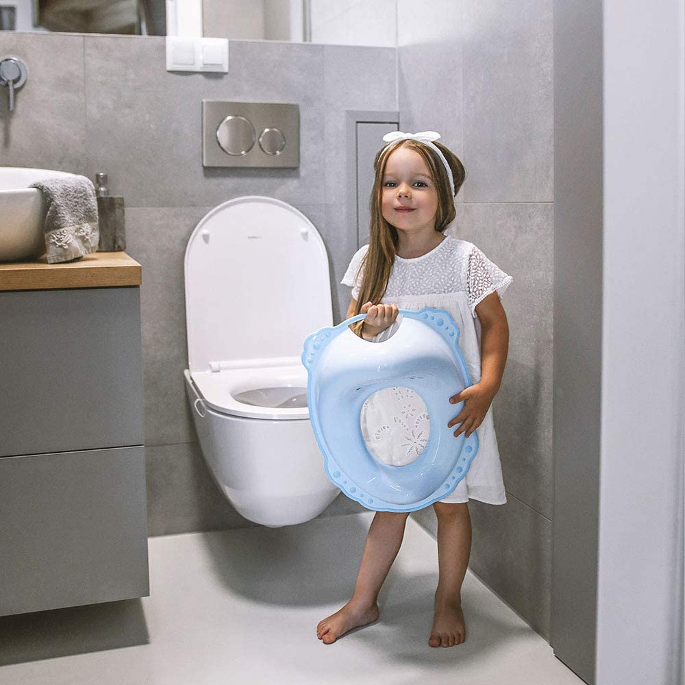 WC seat for Toddlers Grey LUPPEE Potty Training Toilet seat with Non Slip Feet