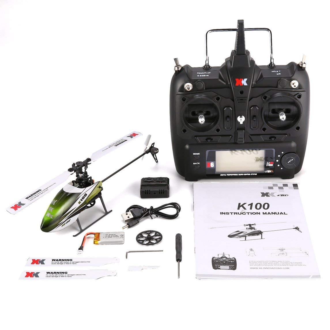 Footprintse XK K100 6CH 3D 6G Sistema Mini RC Drone Elicottero Giocattoli con costruito in Gyro RTF per Regalo Presente