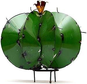 Rustic Arrow Barrel Cactus Garden Art, Multicolor