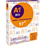 A1 Premier Multipurpose Paper, Copy/Copier/Laserjet Inkjet Printer/Fax/Photocopy Paper, 97 Brightness, 20 lb, Letter Size 8.5