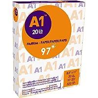 A1 Premier Multipurpose Paper, Copy/Copier/Laserjet Inkjet Printer/Fax/Photocopy Paper, 97 Brightness, 20 lb, Letter…