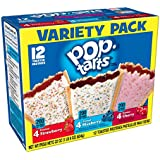 Pop-Tarts Breakfast Toaster Pastries, Flavored Variety Pack, Frosted Strawberry, Frosted Blueberry, Frosted Cherry, 22 oz (12 Count)