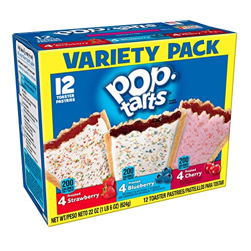 Pop-Tarts Breakfast Toaster Pastries, Flavored Variety Pack, Frosted Strawberry,...