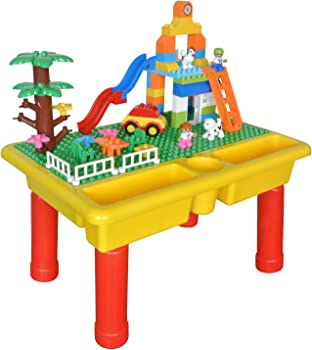 YHW CMKidz Large Toy Building Bricks & Play Table