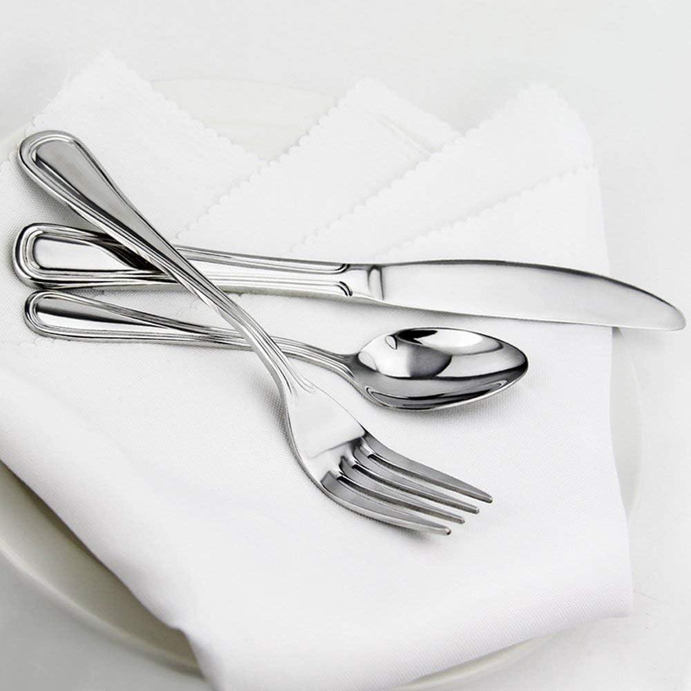 New Star Foodservice 58000 Slimline Pattern, 18/0 Stainless Steel, Dinner Knife, 9-Inch, Set of 12: Kitchen & Dining