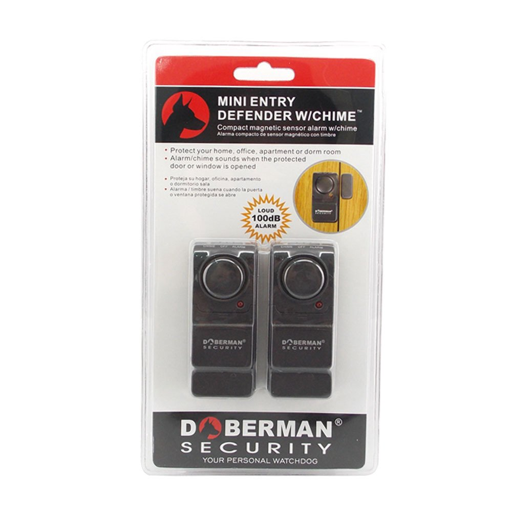 WER Door and Window Security Sensors Mini Entry Defender with Chime SE-0129 (Black) - - Amazon.com
