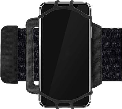 Linq - Brazalete Deportivo para Smartphone de 4 a 6 Pulgadas (poliéster, rotación de 360º, Cierre de Velcro), Color Negro: Amazon.es: Electrónica