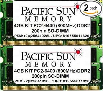 8GB 2x4GB PC2-6400 DDR2-800 SODIMM Memory for Dell Precision M6300