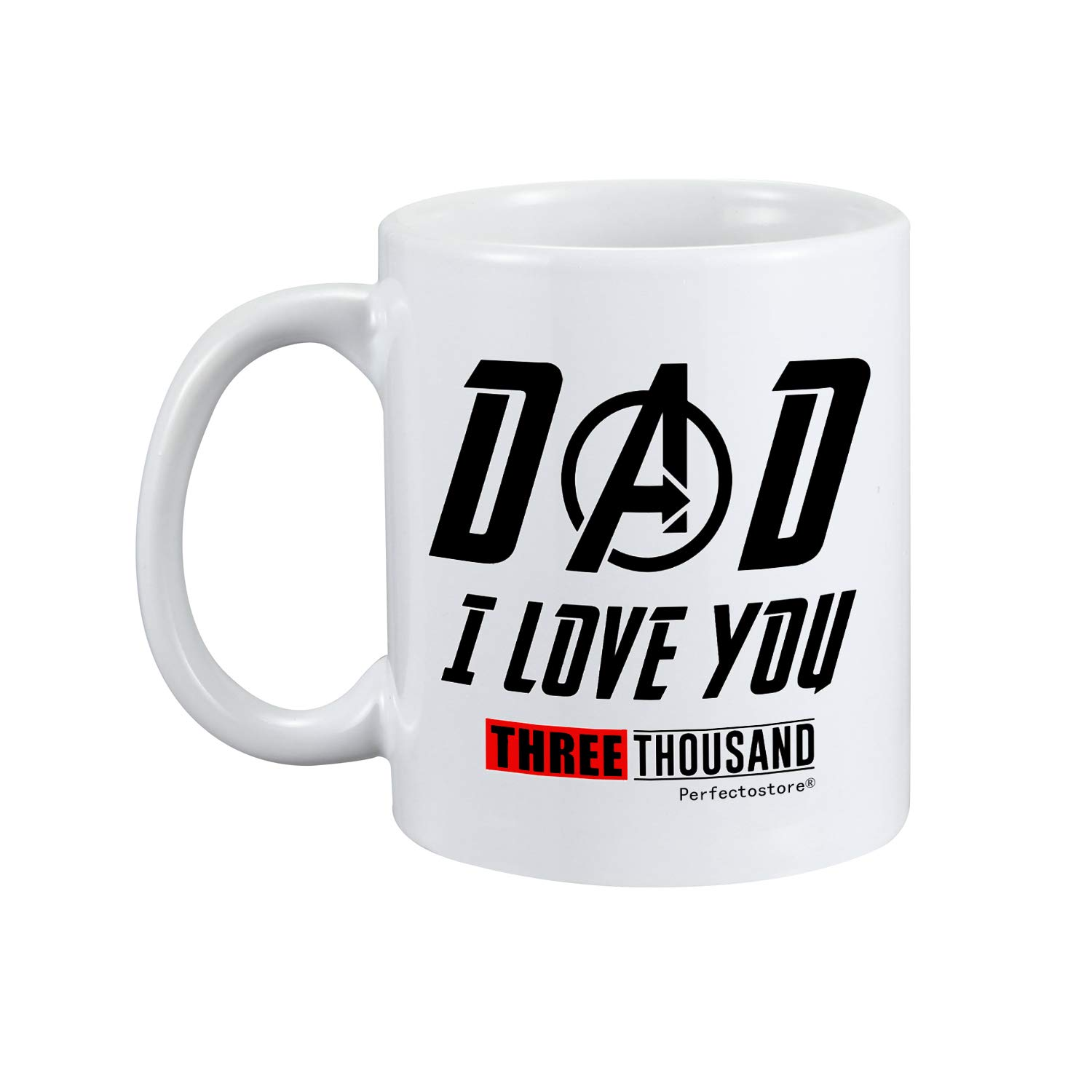 PerfectoStore I Love You 3000 Dad Gifts from Daughter If Had Differen't Dad I'd Kick Him in Face Dad Gifts from Son Funny Dad Gift Coffee Mug Tea Cup White by PerfectoStore (Image #2)