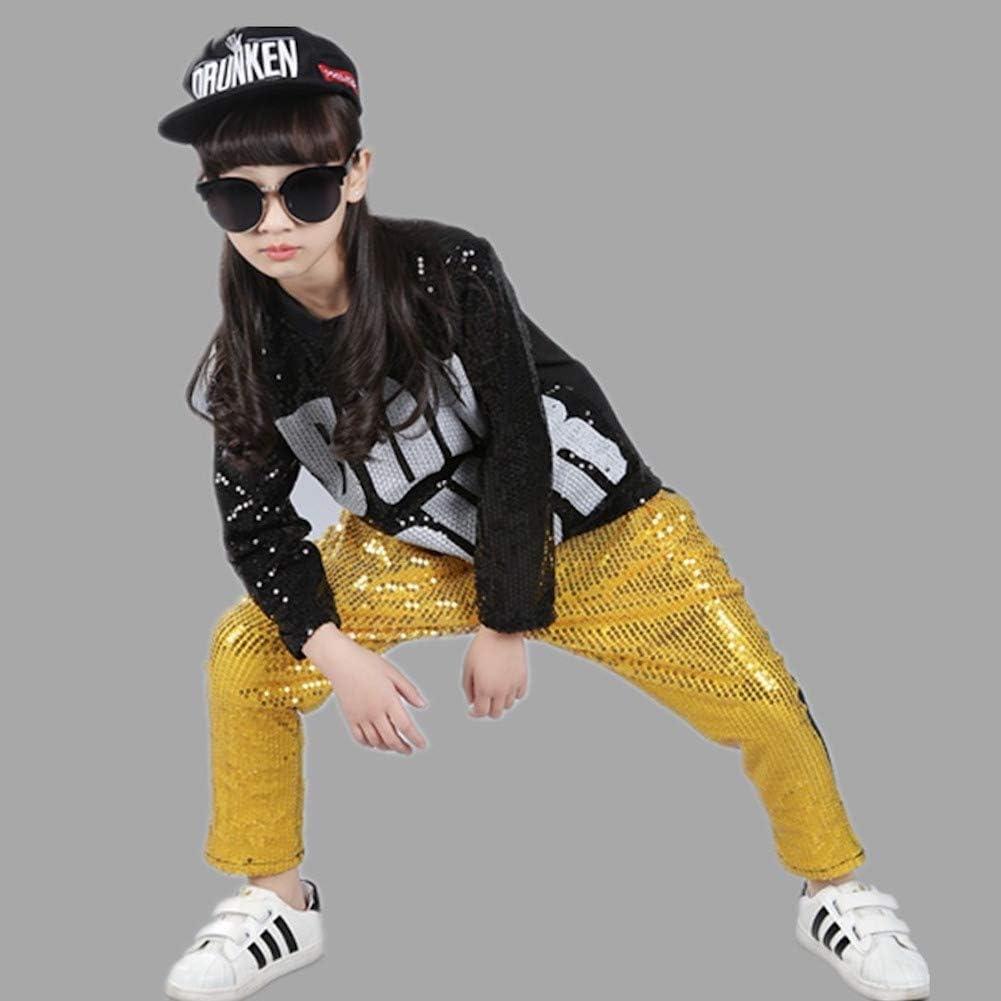 Boys Girls Sequins Hip Hop Costume Modern Hip-hop Street Dance Clothing Set