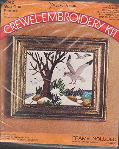 - Pauline Denham Sea Gull Picture Crewel Embroidery Kit 6042