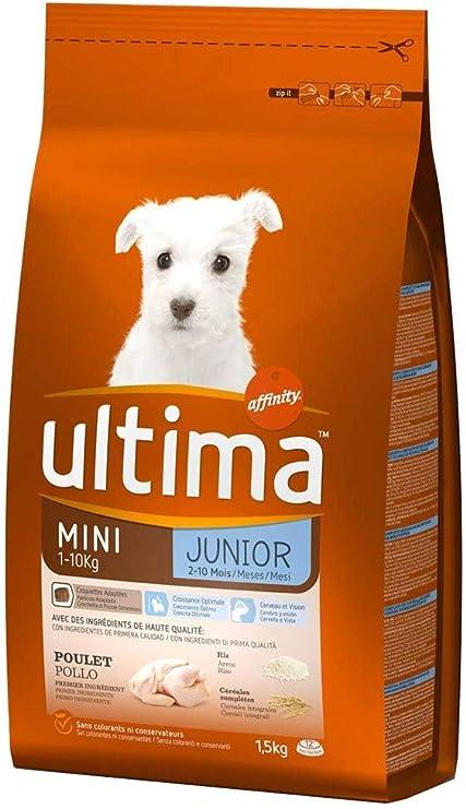 ultima Perros Croquetas Mini Junior 1-10 Kg De Pollo Arroz 1 ...