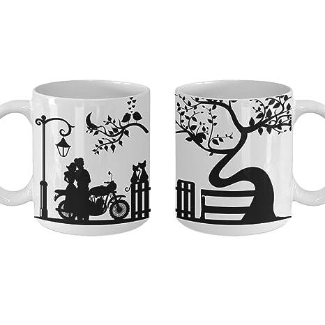 Amazon.com: Couple Gift Mug, Matching Coffee Tea Cup Set ...