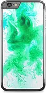 iPhone 6S Plus Transparent Edge Phone Case Green Water Color iPhone 6 Plus Case with Transparent Frame