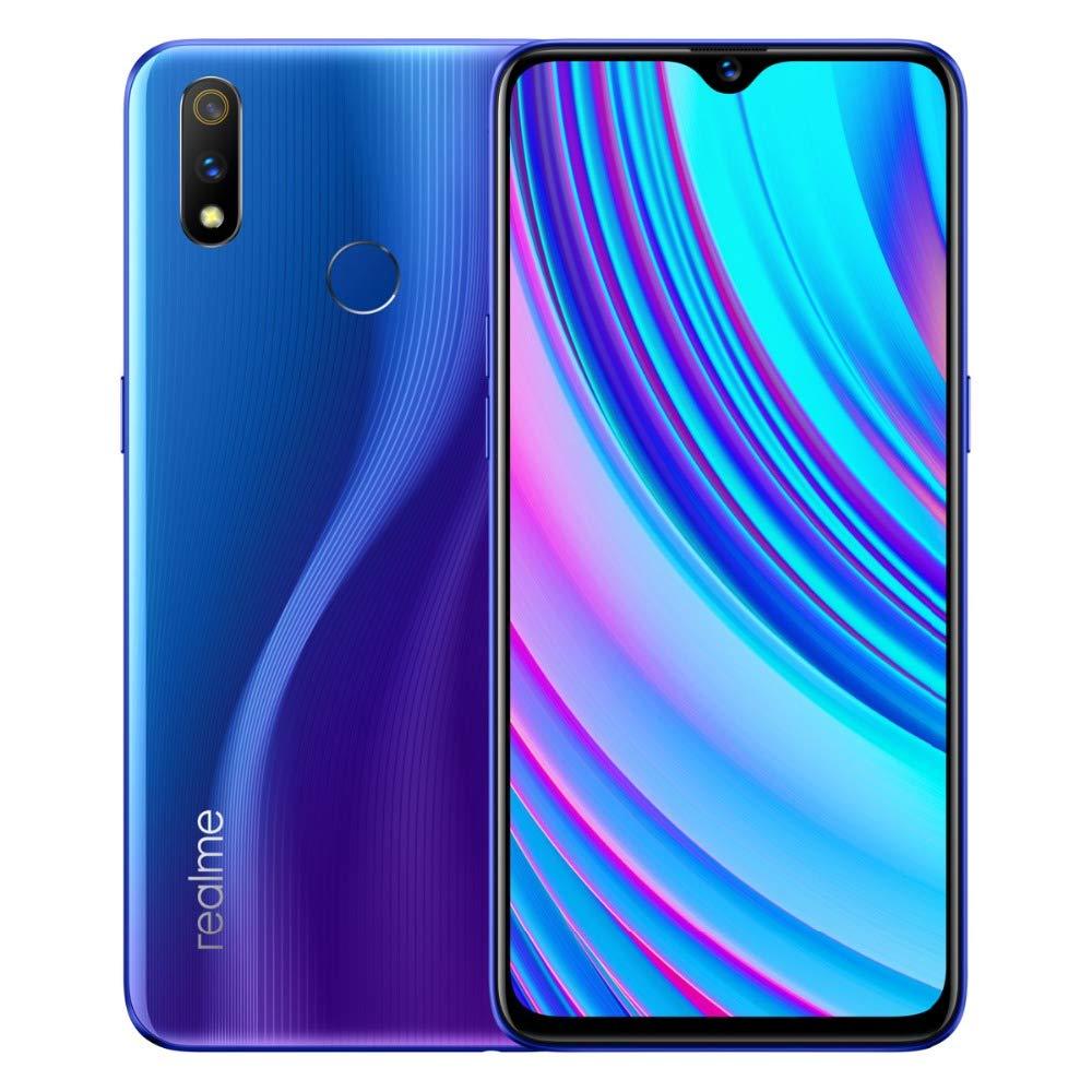 realme 3 pro smartphone Cellulari, 6,3 '' Snapdragon 710 4045mAh 16 + 5MP Dual Camera VOOC Fast Charge 3.0, Versione EU, Blu (4GB+64GB)