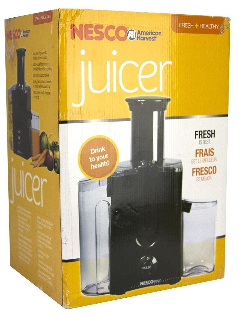 NEW! Nesco BH3337 Electric Kitchen Power Fruit/Vegetable Juicer Extractor Black