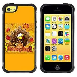 """Pulsar iFace Series Tpu silicona Carcasa Funda Case para Apple iPhone 5C , Día de la caída del otoño acción de gracias Turquía"""""""