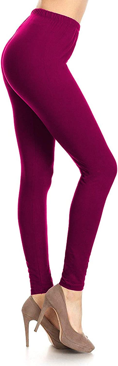 Leggings Depot Extra Plus Ultra Buttery Soft Basic Solid Leggings at  Women's Clothing store