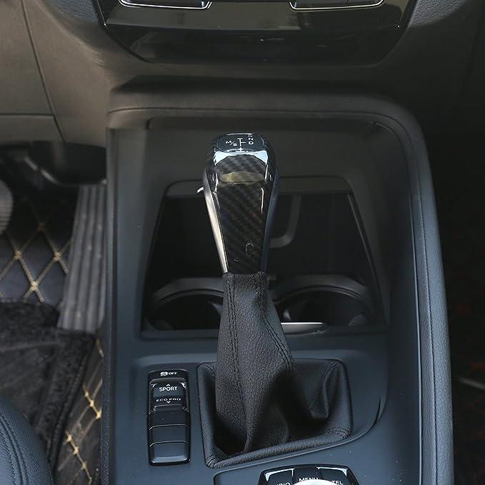 Fibra de Carbono Estilo ABS pl/ástico cabezal de cambio de marchas de coche para X1/F48/2016//17/218I de la serie 2/Gran Tourer F46/2015/ /2017