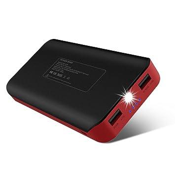 【タイムセール】25000mAh 大容量モバイルバッテリー パワーバンク 急速充電器 2USBポート(1A+2.1A) マルチ保護機能 高輝度LEDライト チャージャー iPhone/Android/iPad各種類対応 地震/台風/災害/停電事故/旅行/出張/アウトドア活動などに最適 USBケーブル付 24か月品質保証 (ブラック)