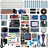 Smraza UNO R3 Starter Kit for Arduino, Ultimate Project Starter Kit with UNO R3 Board, Servo Motors, Sensors, Jumper Wires , 1602 LCD, arduino 9V/1A Power Supply with Detialed Tutorials