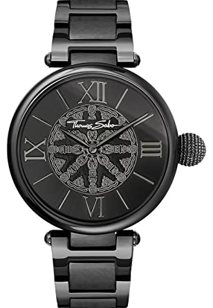 Thomas Sabo Reloj para mujer Karma Negro WA0307-202-203-38 mm: Amazon.es: Relojes