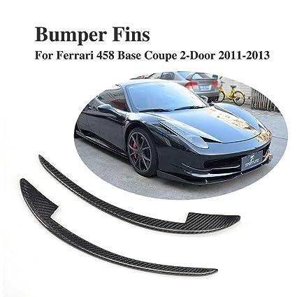 d2d8a5799026e Amazon.com  Jcsportline Carbon Fiber Front Canard Bumper Fins fits Ferrari  458 Italia Base Coupe 2-Door 2011-2013  Automotive
