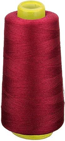 máquina de coser de mano// Nueva Alta Calidad Oscuro Dusky Rojo 200m Algodón Hilo De Coser