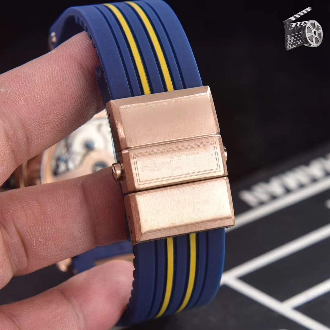 Brandless Montres Casual Hommes Or Rose Bleu Artemis Automatique Mécanique en Acier Inoxydable Saphir Noir Mer Plongeur Chronomètre Montre Blue