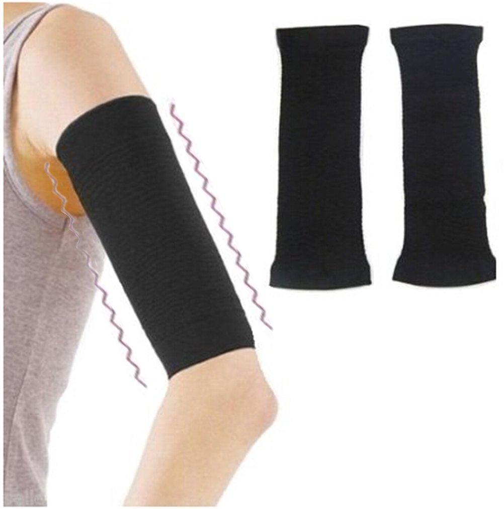 fbe9094c69 Amazon.com: 2Pcs Qingsun Slimming Arm Sleeve Shaper Support Wrap Calories  Off Slimming Arm Massage Lose Fat Buster Shaperwear Black: Home Improvement