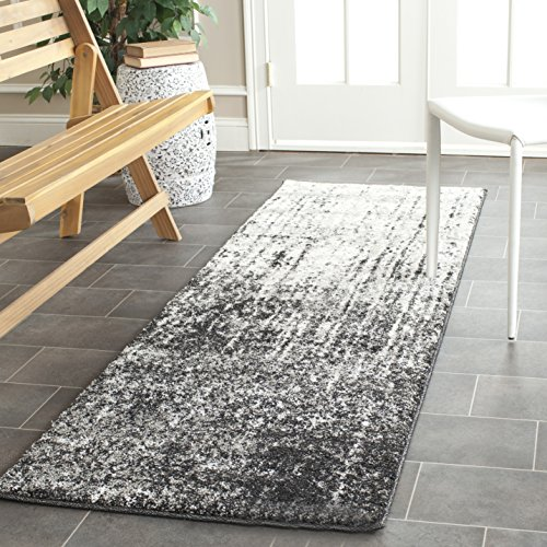 Safavieh Retro Collection RET2770-9079 Modern Abstract Black and Light Grey Runner (2'3