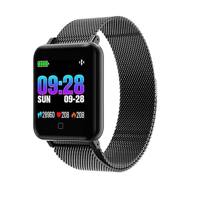 Bestow Presišn Arterial Fitness Tracker M19 Pulsera Inteligente Monitor de Ritmo Cardšªaco Reloj Inteligente Gadgets electršnicos Reloj de Pulsera(Negro): ...
