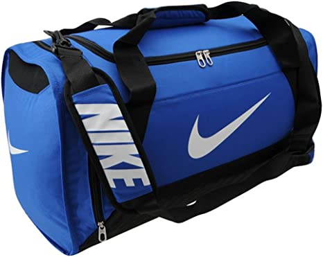 Branded Nike Brasilia 6 Medium Grip Duffle Bag Holdall Sports Gym Travel (W58 x D30 x H32 cm, Royal)