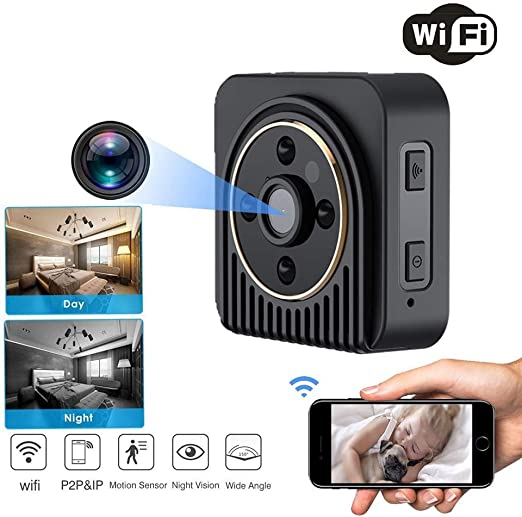 TONGTONG Mini cámara WiFi P2P Cámara IP DV Grabador de Video de ...