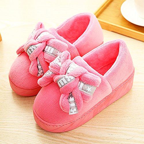 CWAIXXZZ pantofole morbide Il cotone pantofole pacchetto femmina con tacco alto spessore invernale calda coperta spessa home, un lussuoso pantofole inverno anti-slittamento ,39-40 adatto per 38-39 met