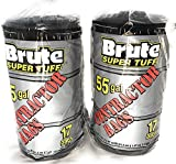 Brute Super Tuff 55 Gallon Contractor Bags - Black (2Pack)