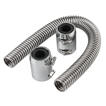 """Homyl Manguera Radiador de Agua Refrigerante Flexible de Aluminio con Tapas de Extremo, 24"""""""