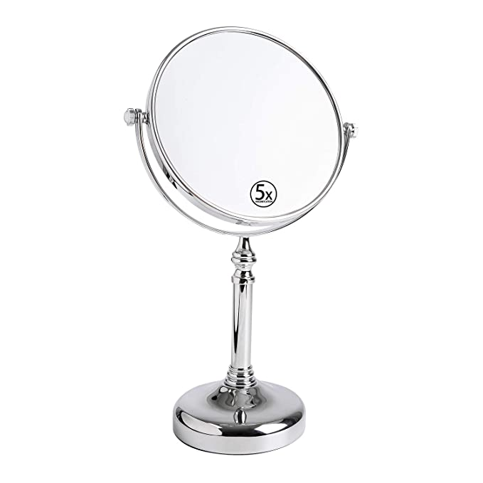 Amazon.com: Two-Sided Tabletop Swivel Vanity Mirror with 5x ...