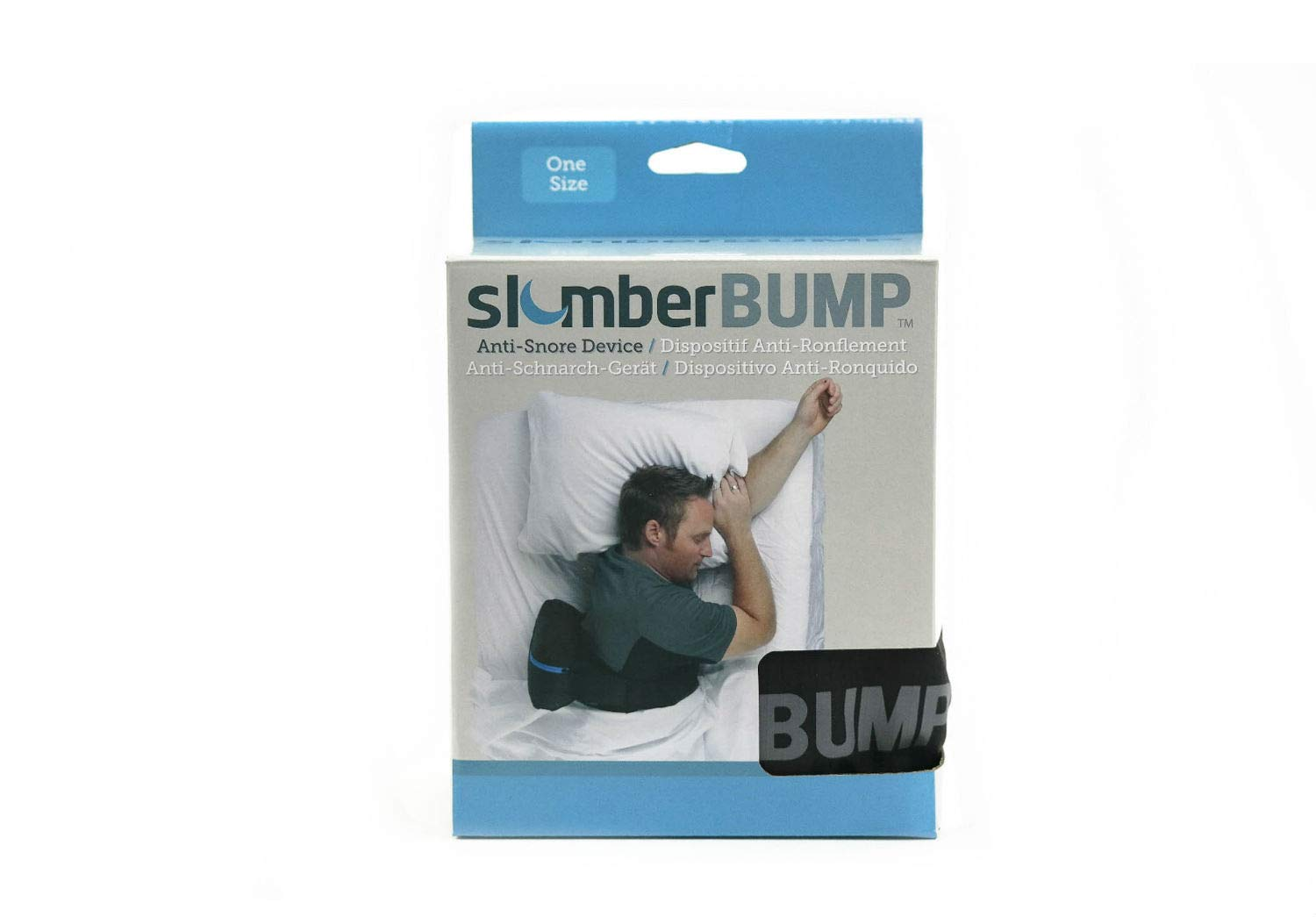 slumberBUMP Positional Sleep Belt for Snoring and Sleep-Disordered Breathing, Black/Gray (One Size Fits Most) by SlumberBump