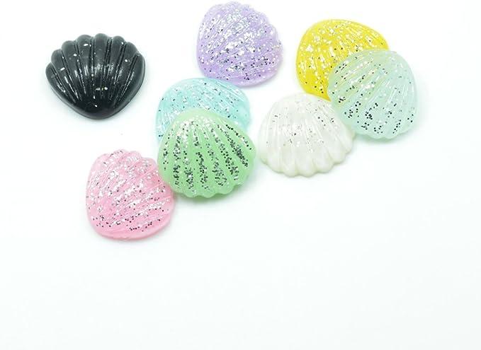 SUNNYCLUE 1 Caja 50 Piezas de Encantos de Resina de Helado Cabujones Lollipop Encantos de Limo de Resina de Colores Mezclados Botones de Resina con Parte Posterior Plana Cabochons