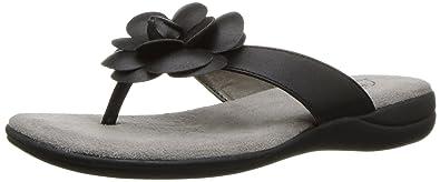LifeStride Women's Elita Flip Flop, Black, ...