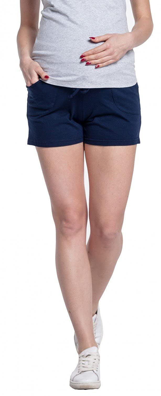 Damen Kurze Hose Umstandsmoden elastischer Bauchband Happy Mama Taschen 259p