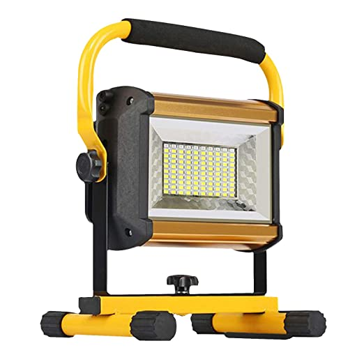 8000lm 100w Rechargeable Floodlights Portable Led Work Light 100leds 1000w Equivalent Waterproof Outdoor Led Flood Light For Camping Hiking