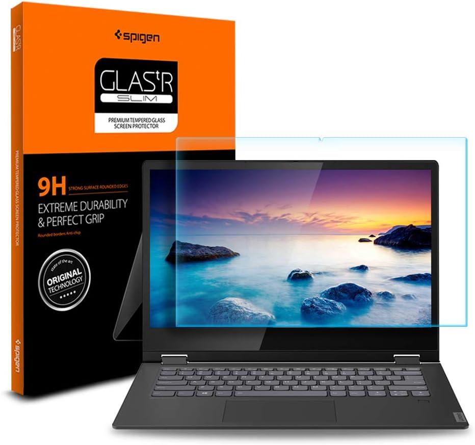 Spigen Tempered Glass Screen Protector Designed for Lenovo Flex 14 (14API / 14IWL) [9H Hardness]