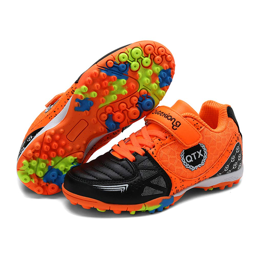 LEODI Children Toddler Football Cleats Kids Indoor Soccer Shoes for Boy and Girl Training Sneakers