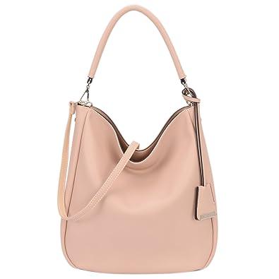Amazon.com  DAVID - JONES INTERNATIONAL Ladies Vegan Leather Hobo Purse  Tote Handbags Pink Top-Handle Bags on Sale  Shoes df8e3d05fbd3b