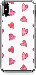 جراب Loud Universe لهاتف iPhone XS Max شفاف الحافة غطاء عليه صورة فالنتاين يوم الأزواج بنمط قلب الحب لهاتف iPhone XS Max