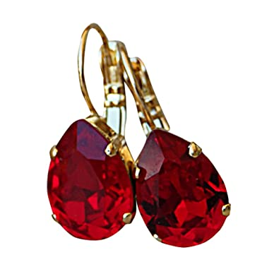 87e217f78 Image Unavailable. Image not available for. Color: Rebeka Jewelry. Red Drop  Earrings ...